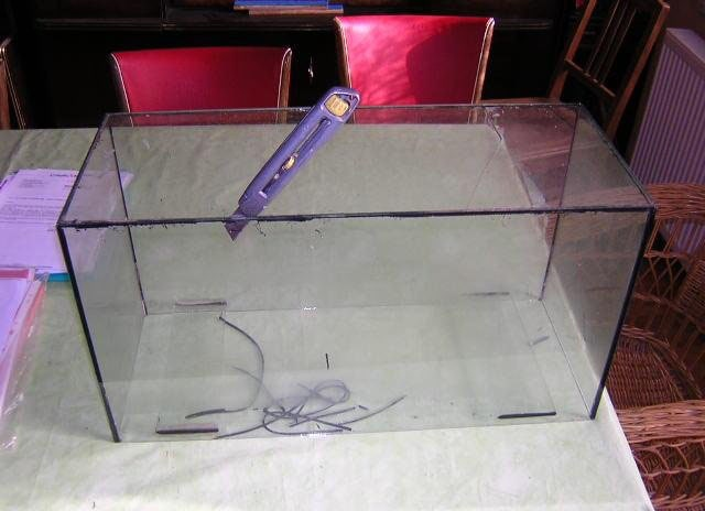 3-Astuce pour réparer un aquarium cassé